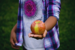 Child Holding Apple